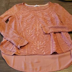 Mauve l/s lightweight sweater blouse